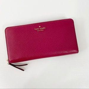 Kate Spade Cranberry Jackson Continental Wallet